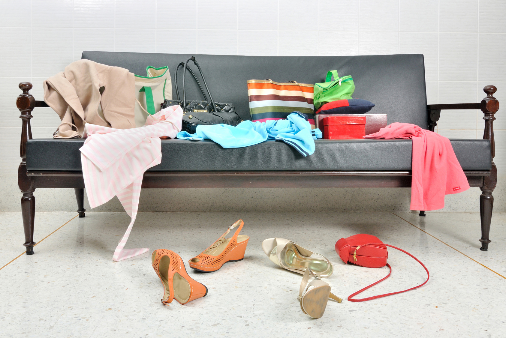Image result for sofa with clutter