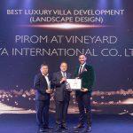 Best Luxury Villa Development Landscape Design went to Pirom at Vineyard