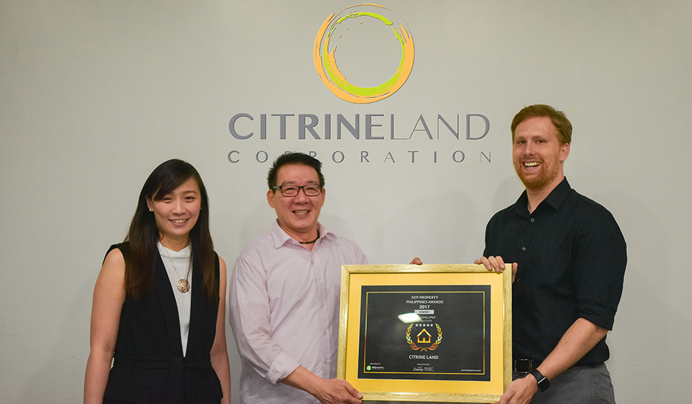 Crystal Chloe Ong-Chua (left), Citrineland's Internal VP for Sales and Marketing, Wilson K. Granadis (center), Vice President for Sales and Marketing and Dot Property Magazine Editor in Chief Cheyenne Hollis (right)