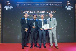 Lapista Luxury Villas won Best Architectural Villa Design Phuket