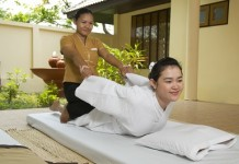 Getting a massage in Thailand
