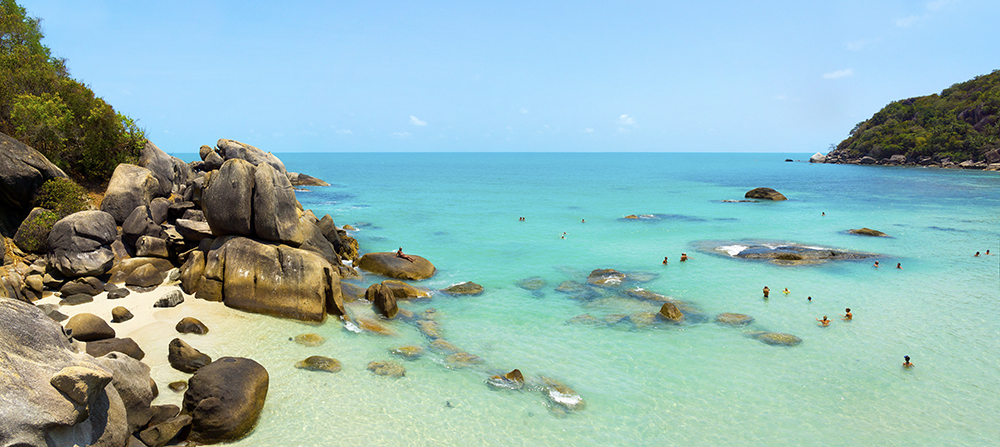 Coral beach panorama in Samui Island, Thailand.Thailand-Property.com