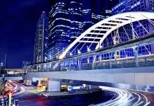 Sky bridge connection to Bangkok Rapid Transit Station, Sathon junction, Bangkok.Thailand-Property.com