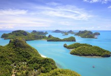 Bird eye view of Angthong national marine park, koh Samui, Suratthani, Thailand.Thailand-Property.com