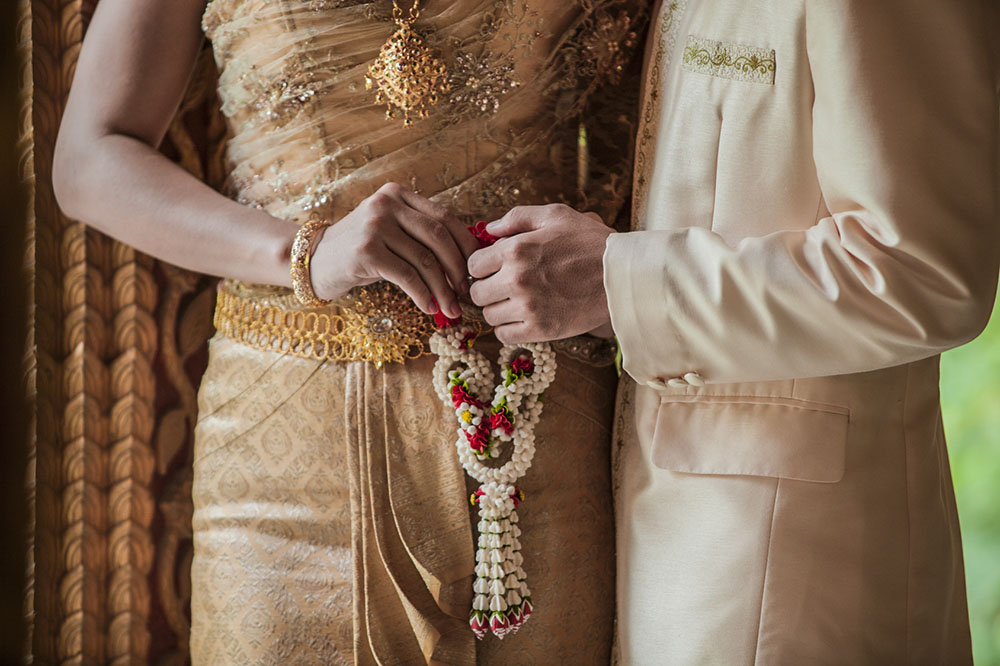 Beautiful and colourful Thai traditional wedding ceremony. Thailand-Property.com