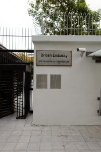 The British embassy in Bangkok has been sold