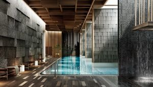 Chalermnit Art De Maison men's and women's traditional onsen baths along with a Japanese-inspired indoor swimming pool
