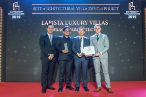 Lapista Luxury Villas won Best Architectural Villa Design Phuket