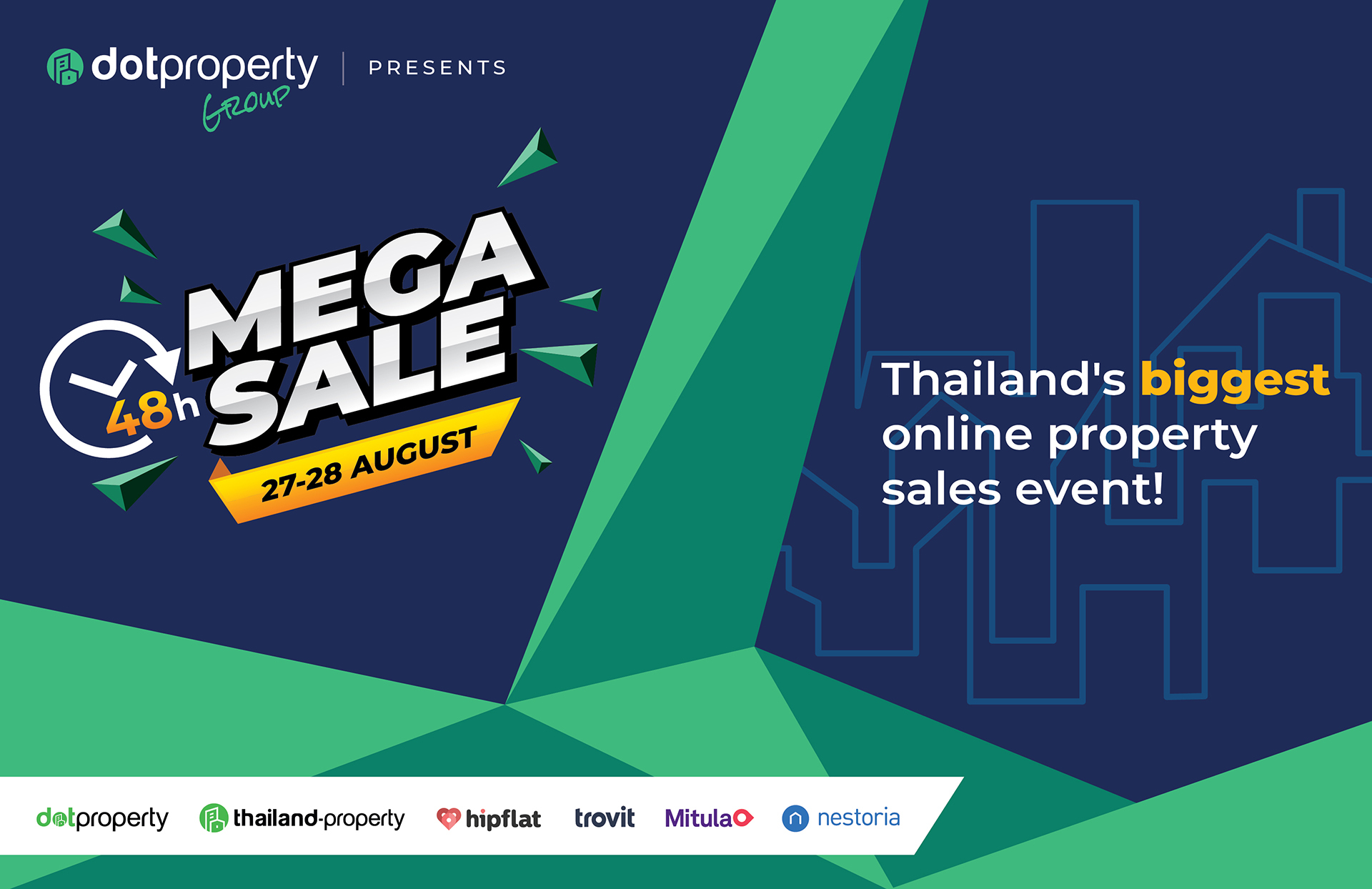 Dot Property 48 Hour Mega Sale sees a record number of property seekers take advantage of historic discounts