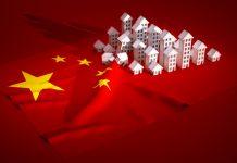 30700849 - 3d render illustration of china real-estate development