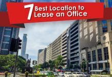 a banner with a graphic of the best location to lease an office