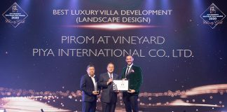Best Luxury Villa Development Landscape Design went to Pirom at Vineyard