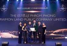 Raimon Land took home Best Luxury Condominium for The Estelle Phrom Phong