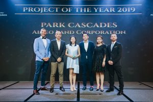 """Park Cascades from Alveo Land was presented with the first ever People's Choice Award for """"Project of the Year"""""""