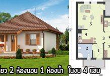 บ้านราคาไม่เกิน 4 แสน,แบบบ้านราคาไม่เกิน 4 แสน,บ้านชั้นเดียวราคาถูก
