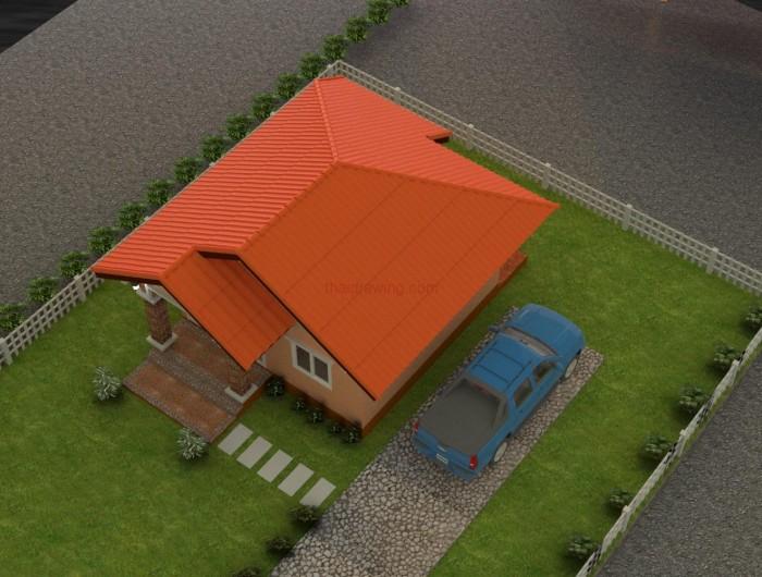 แบบบ้านหลังคาหน้าจั่ว,บ้านชั้นเดียวราคาถูก,บ้านราคา 3 แสน,แบบบ้านราคาไม่เกิน 4 แสน,แบบบ้านขนาดเล็ก