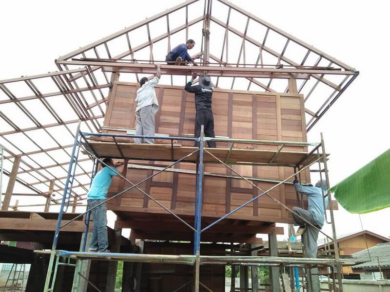 บ้านทรงไทย,สร้างบ้านไม้,บ้านไม้ชั้นเดียวยกสูง,แบบบ้านไม้ชั้นเดียว,แบบบ้านไม้,แบบบ้านราคาไม่เกิน 7 แสน_35