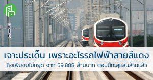 เจาะประเด็น เพราะอะไร รถไฟฟ้า สายสีแดงถึงเพิ่มงบไม่หยุด จาก 59,888 ล้านบาท ตอนนี้ ทะลุแสนล้านแล้ว